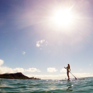 Stand-Up Paddleboarding in Waikiki