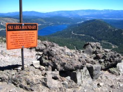 Donner Lake in the background.