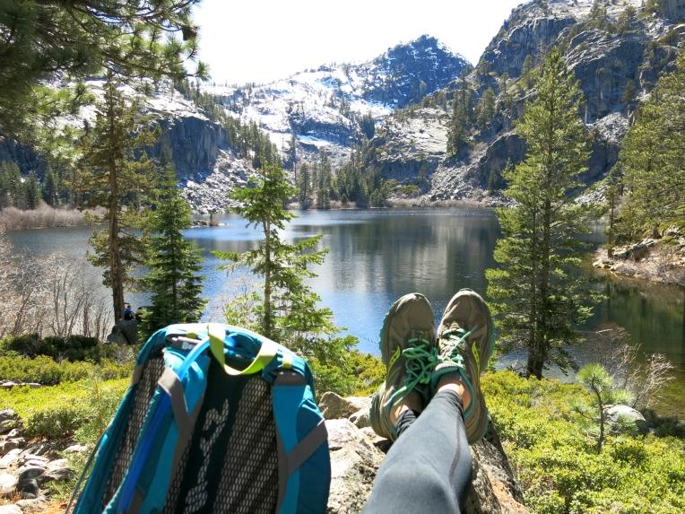 Relaxing at Eagle Lake