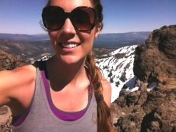 Sunburned at the summit!