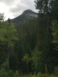 View of Kessler Peak from the base.